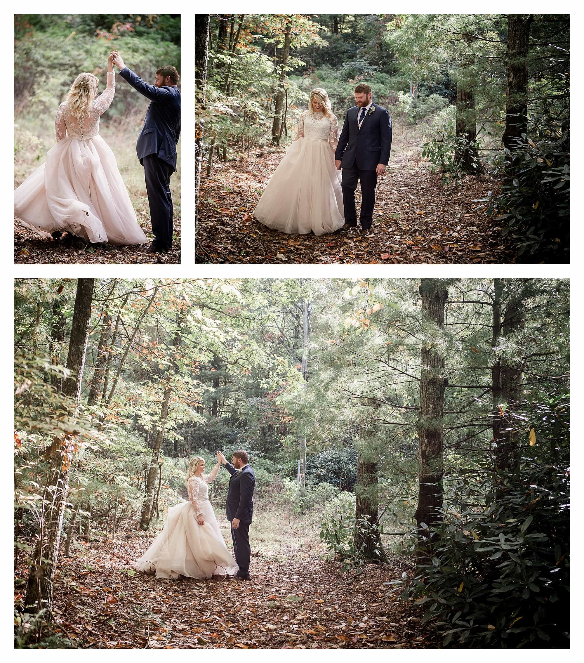 Dancing in the woods in the fall