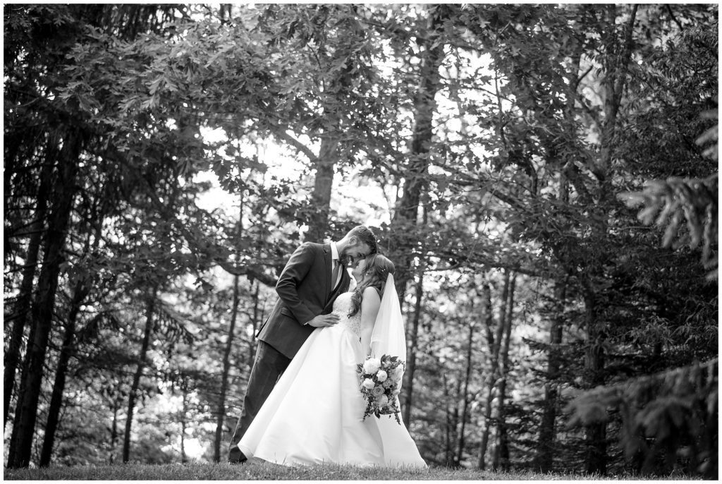 Bride and groom portraits on their wedding day at Honeysuckle Hill in Asheville.